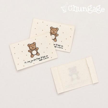 着色熊标签(2种)[LB020]