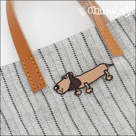 刺绣贴片粘合剂盘腊肠犬[62]