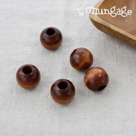 花边材料花边密封木珠木珠木(米色)20mm 25mm