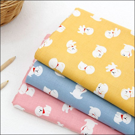 20睡布)白色小狗(三种)