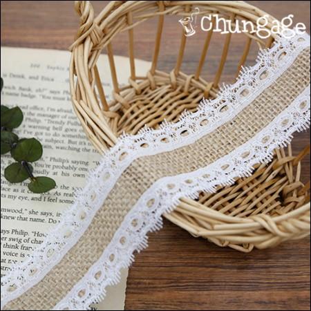 蕾丝黄麻蕾丝黄麻丝带边框蕾丝绳