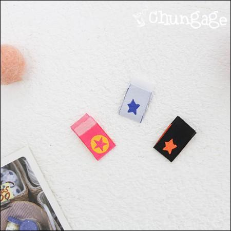 Cotton Label Fit标签迷你星(3种/ 5件)[KL015]
