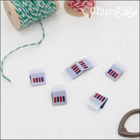 棉签配件标签蓝色红点(5件)[KL016]