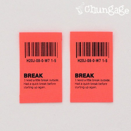 棉标签条形码荧光标签点标签[LB022]