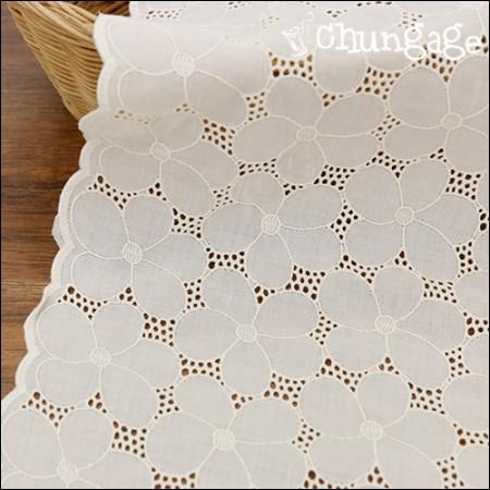 宽蕾丝纯棉面料刺绣面料蕾丝银铃(2种)