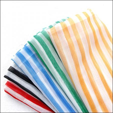 宽DTP波兰雪纺)彩色条纹(5种)