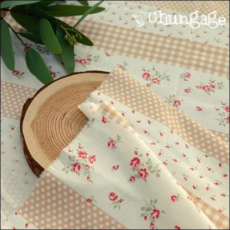 棉20水平编织)玫瑰米色