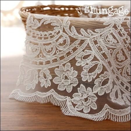 网眼织物蕾丝刺绣面料网眼蕾丝长发公主(2种)