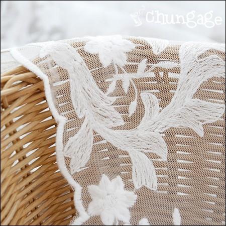 网眼布蕾丝刺绣面料网眼蕾丝格洛丽亚(2种)