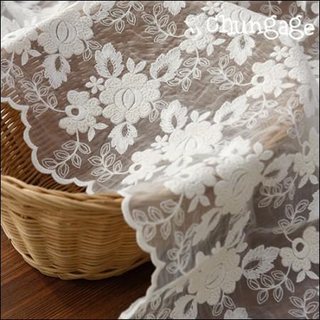 魅力系带刺绣面料网眼蕾丝花边玫瑰(2种)