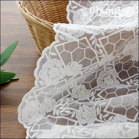 SHAWON LACE蕾丝刺绣面料网眼蕾丝雅典玫瑰(2种)