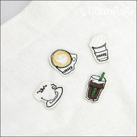 胶粘华夫饼干刺绣贴片华夫饼干(4种类型)[089]