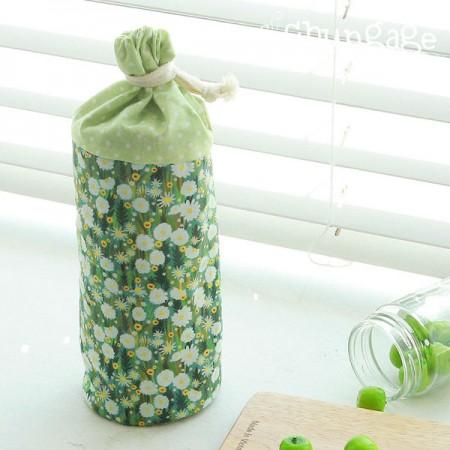 高级DTP20水平编织)绿色花卉