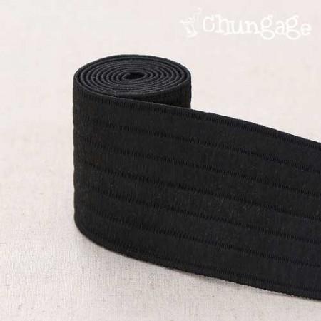 玛格丽特·萨克特腰部橡皮筋50mm(黑色)