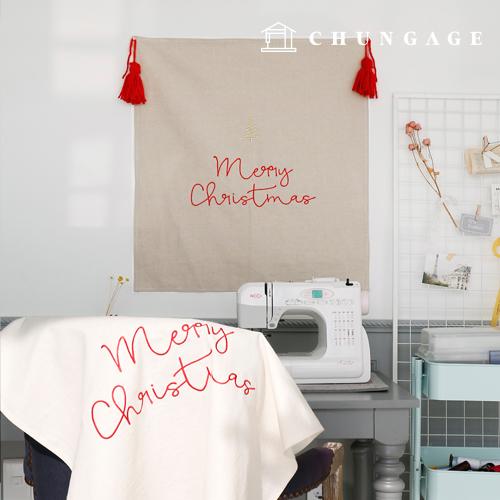 亚麻刺绣裁剪支架桌圣诞快乐(4种)