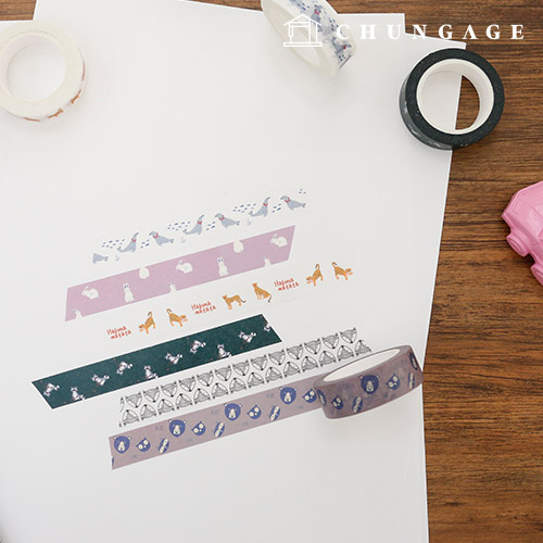 设计纸美纹纸胶带动物收藏品所有9