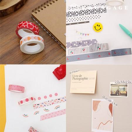 设计纸美纹纸胶带可爱花纹收集20种