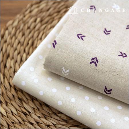 限量特价优惠亚麻11支印花织物点白2种类型