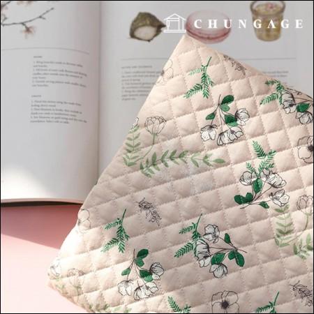 棉20横机织fabric缝面料中庭花