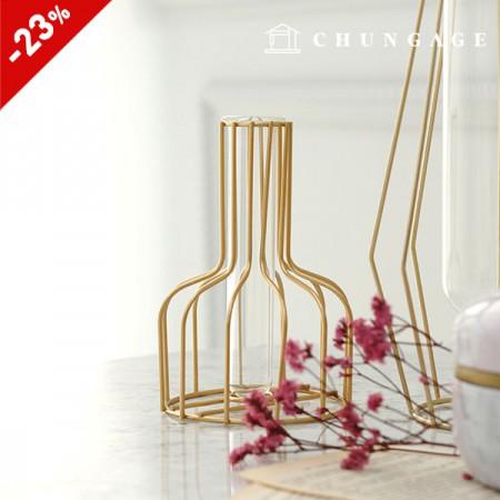 金框玻璃花瓶酒