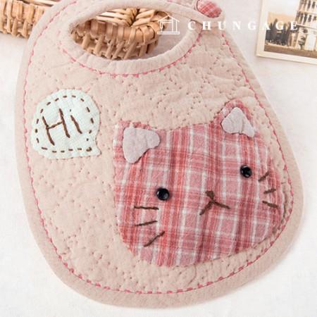 绗缝包DIY套件猫围兜[CH-650366]