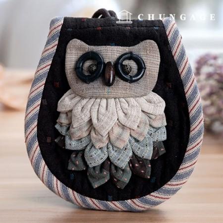 绗缝包DIY套件猫头鹰钱包(蓝色)[CH-612698A]