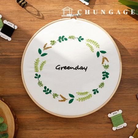 法国刺绣包装DIY套件绿色纪念日[CH-511208]