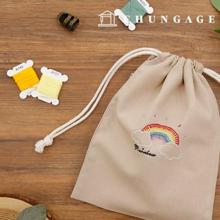 法国刺绣包装DIY套件彩虹化妆包[CH-560108]