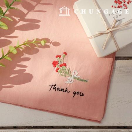 法式刺绣包花DIY套件感谢手帕CH-513513