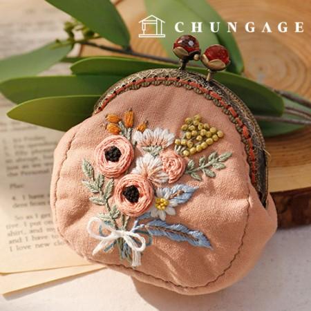 法式刺绣包花DIY套装大丽花化妆包CH-511858