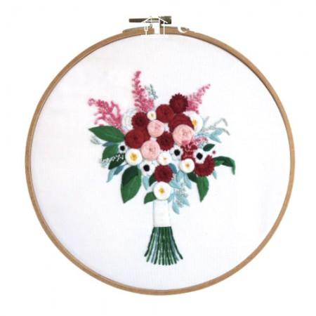 法国刺绣包装花DIY套件红花CH-511217