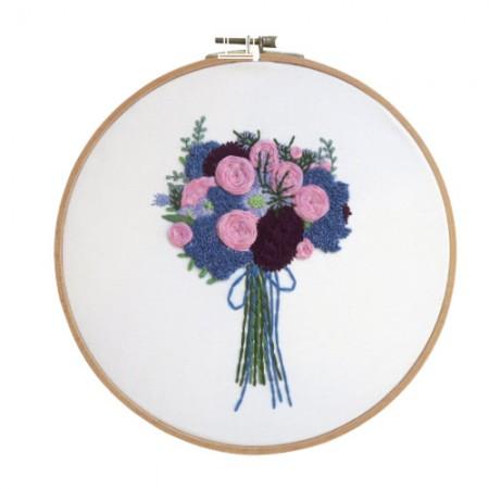 法国刺绣包装花DIY套件紫色花束CH-511218
