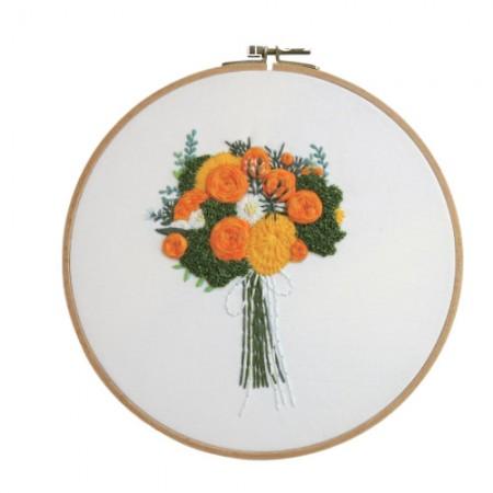 法国刺绣包装花DIY套件橙味CH-511219