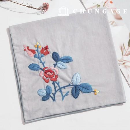 法国刺绣包装花DIY套件拉罗萨手帕CH-513506