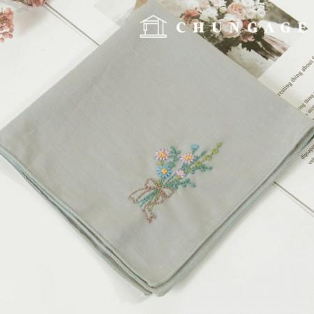 法国刺绣包装花DIY套件温和香气手帕CH-513511