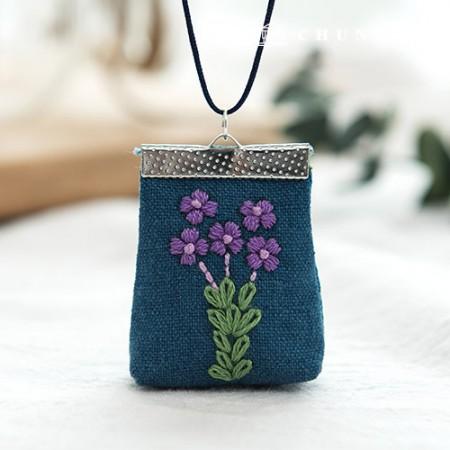 法国刺绣花包DIY套装紫色(2种)[CH-512503]
