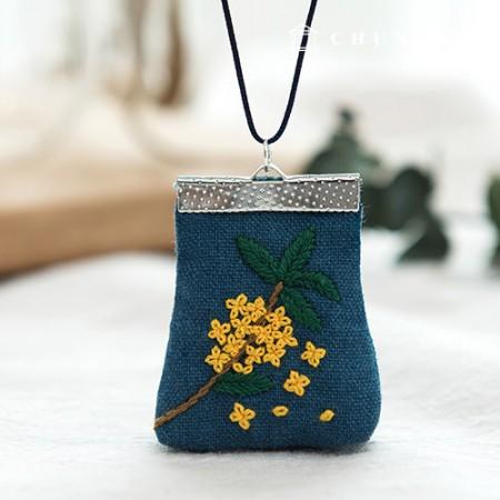 法式刺绣包花DIY套装黄色香水(两种)[CH-512501]