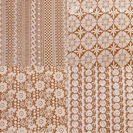 7种棉质蕾丝刺绣面料[G1]