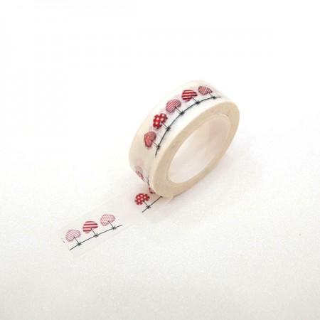 设计마스美纹纸胶带爱心花环TA094