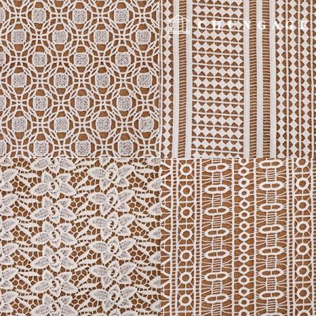 8种棉质蕾丝刺绣面料[G4]
