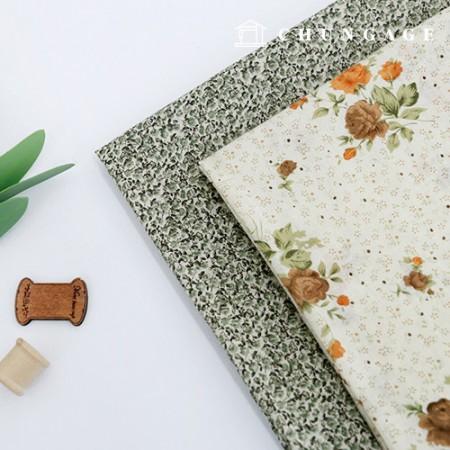薄纱面料纯棉薄纱料料打印2种米色花园
