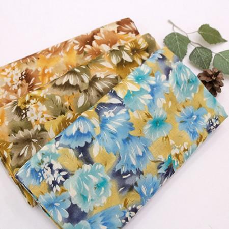 薄纱布棉薄纱布印花3种菊花