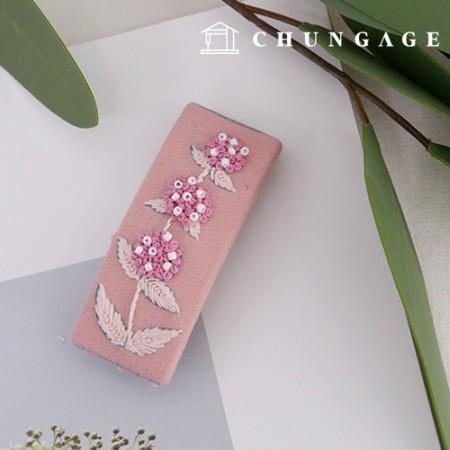 法国刺绣包装花DIY套装绣球发夹粉色CH-512522C