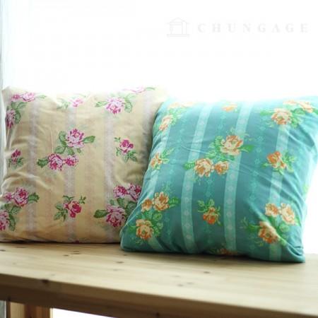 20计数棉织物平纹布两朵草玫瑰