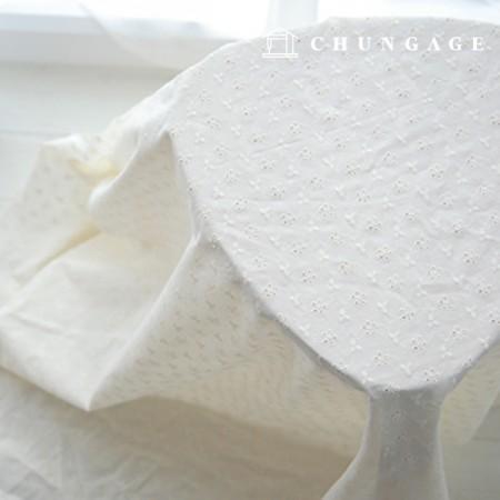 棉蕾丝刺绣面料藤三叶草天然