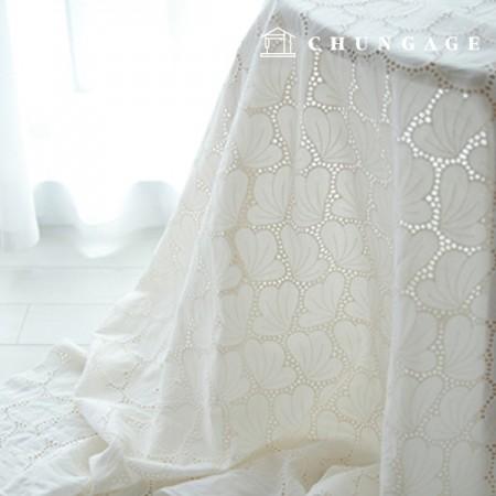 棉蕾丝绣花面料扇花自然