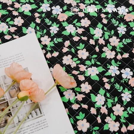 20纯棉平纹布布料棉衣面料复古花朵
