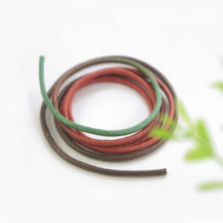 明暗Oshidori棉线2mm绿色