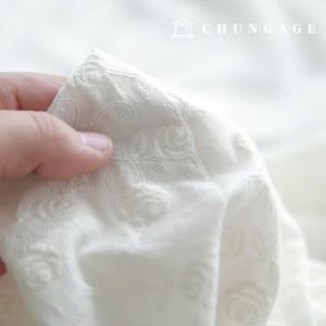 棉蕾丝刺绣面料玫瑰花藤天然