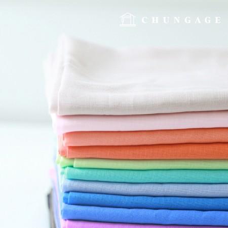 4件40面平纹纱质平纹面料